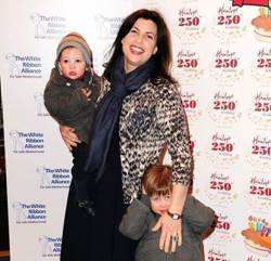 Kirstie Allsopp with her children