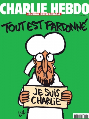 Charlie Hebdo new issue cover weeping Mohammed