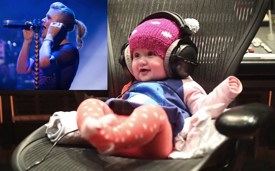 Kelly Clarkson's daughter rocks out to song that uses her own heartbeat in adorable video