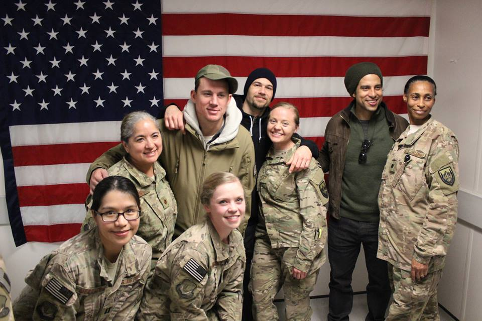 Celebrity visit cheers Oregon National Guard troops in Afghanistan