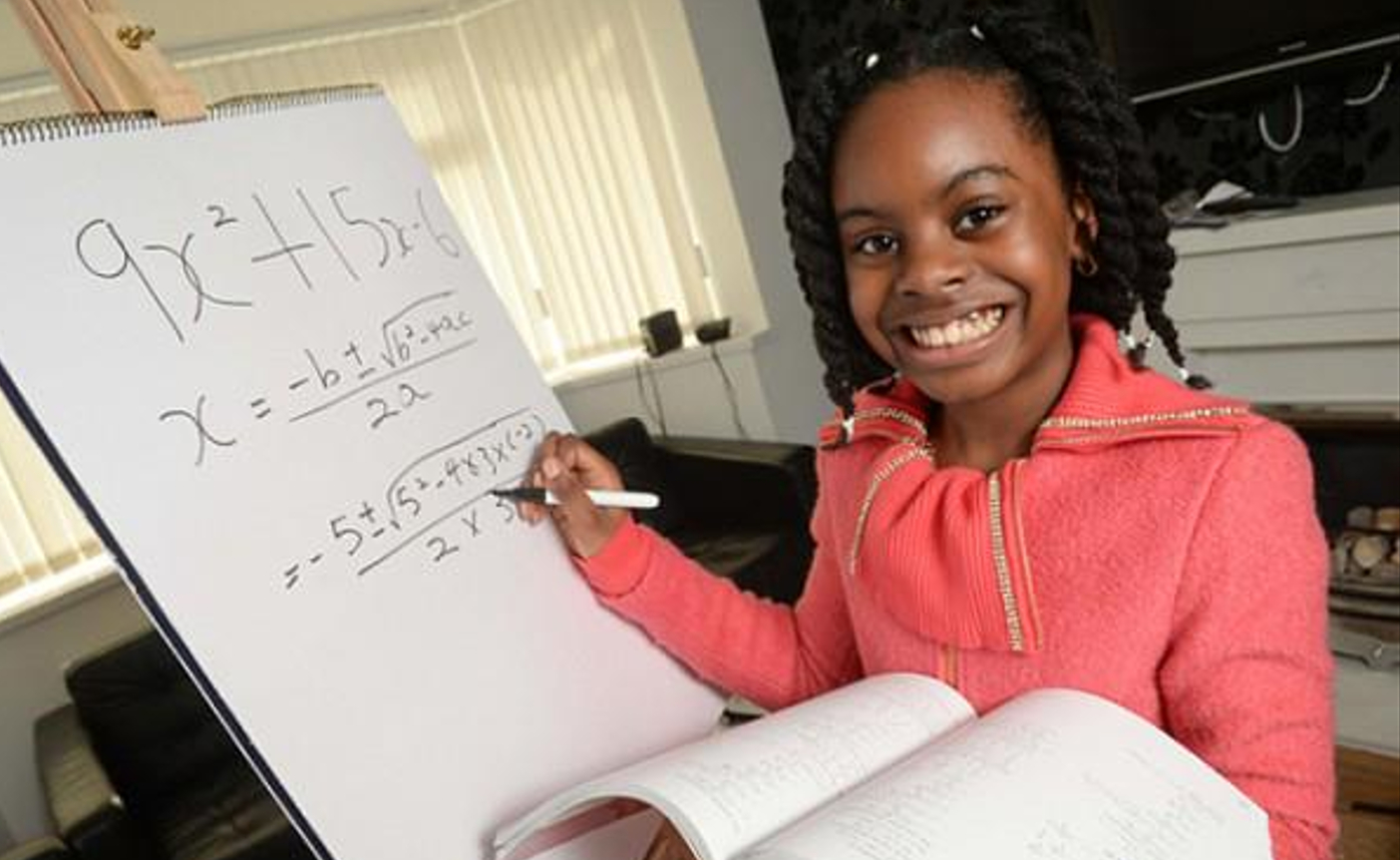 10-year old math prodigy at the top of her college class