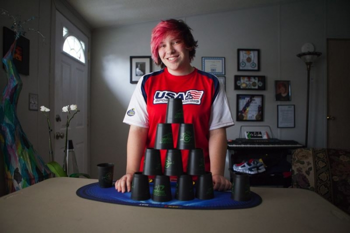 Gresham teen to compete in junior olympics for cup stacking