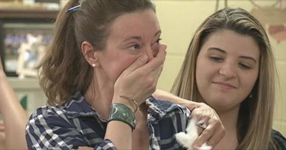 High school principal receives surprise of her life