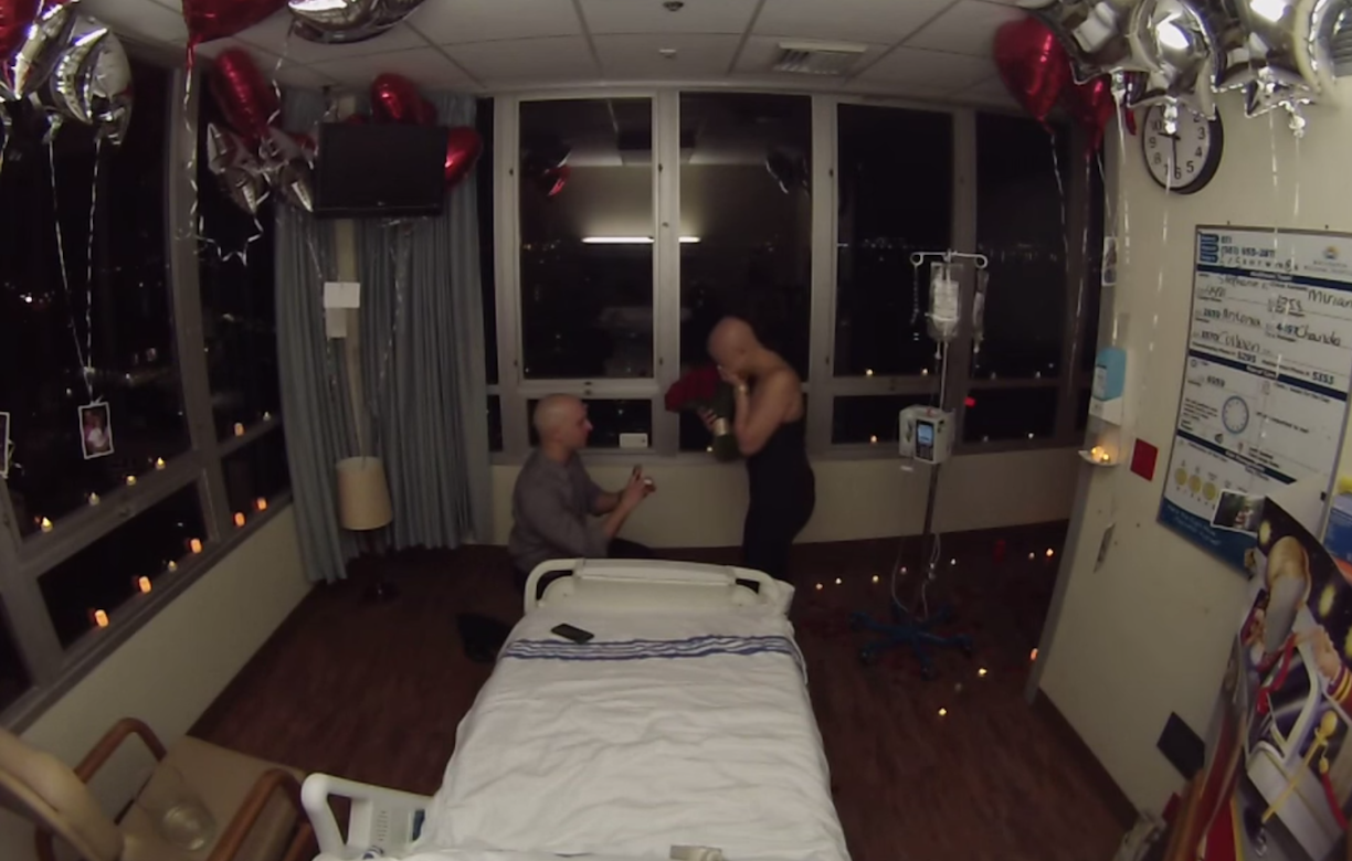 Surprise proposal on last day of chemotherapy