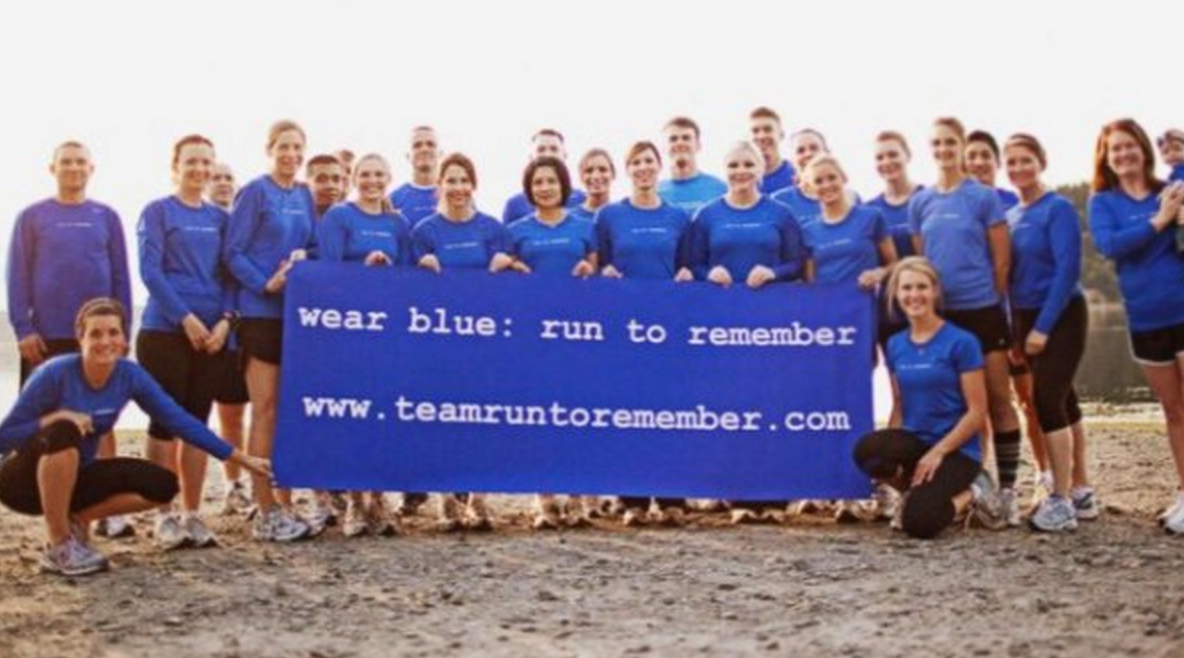 "Military widow honors husband and other veterans through ""Wear Blue"" runs"