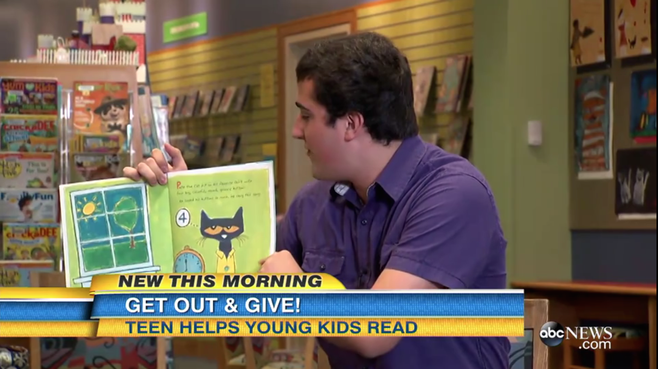 Teen collects 25,000 books to promote local children's literacy