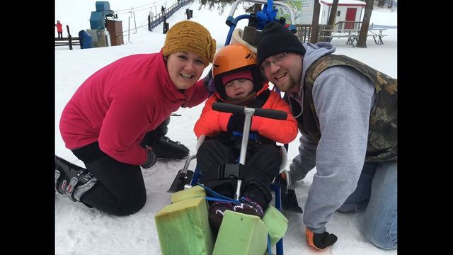 Five Year Old Girl Defies Illness, Goes Skiing