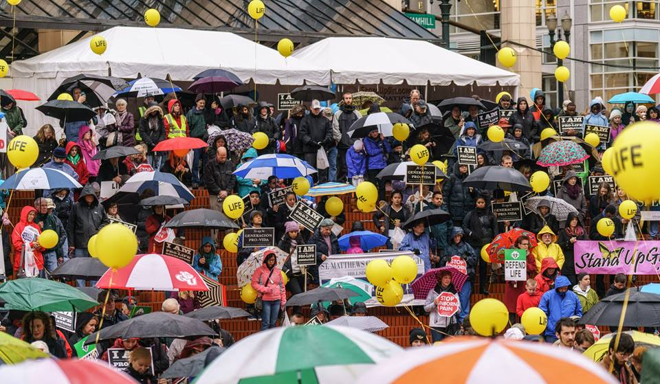 Downtown Portland Pro-life Rally Attracts 2,000