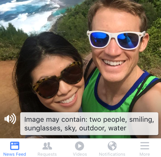 Facebook helps blind people experience photos