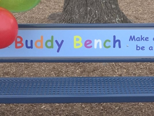 'Buddy Bench' helps lonely children find friends