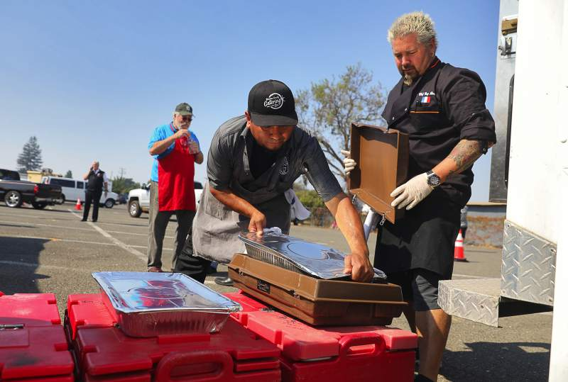 Food Network Chef Serves Fellow California Wildfire Victims