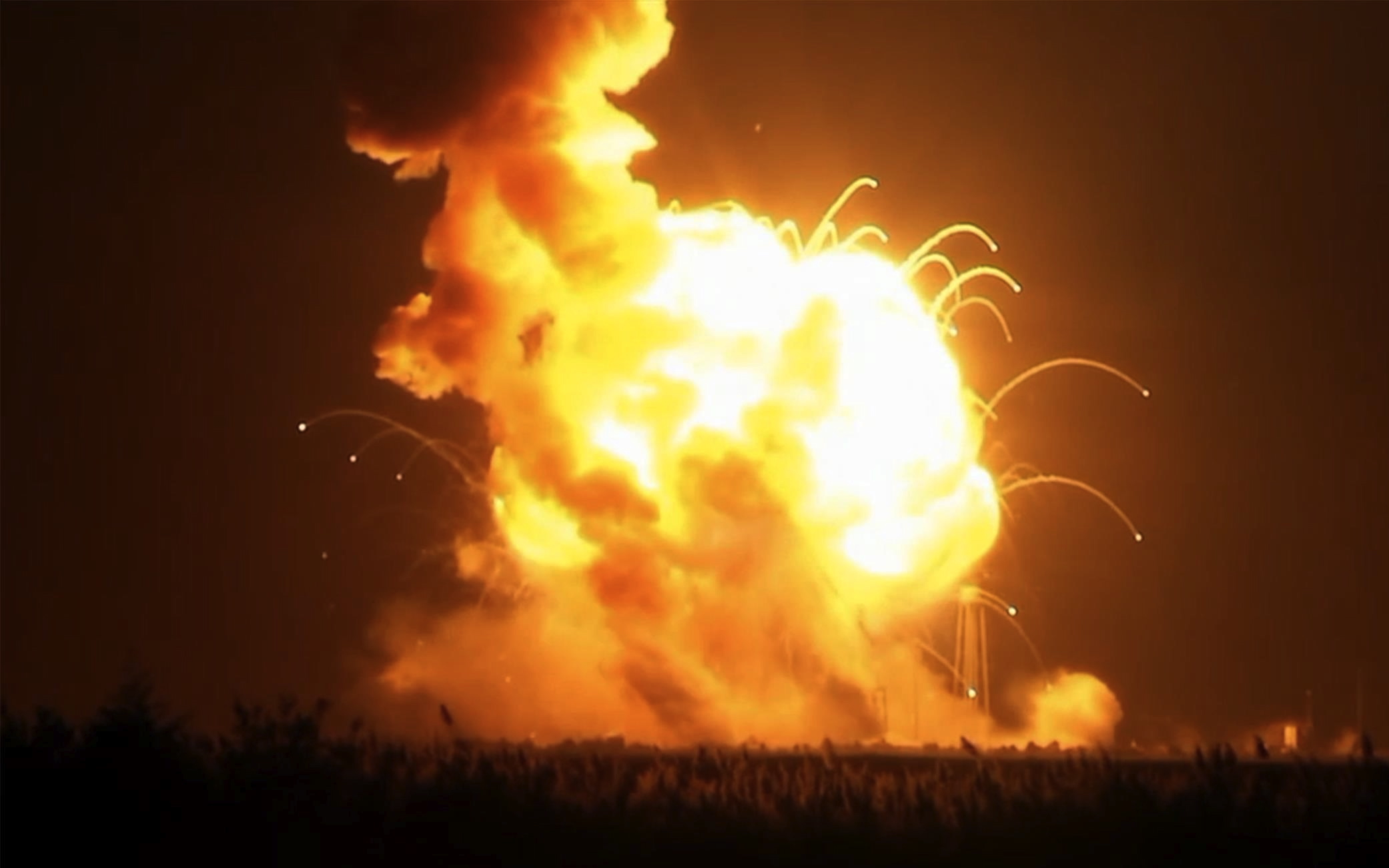 Antares rocket explodes six seconds after lift-off