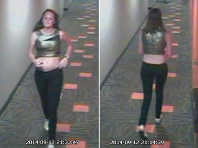 Surveillance footage from the night Hannah Graham when missing