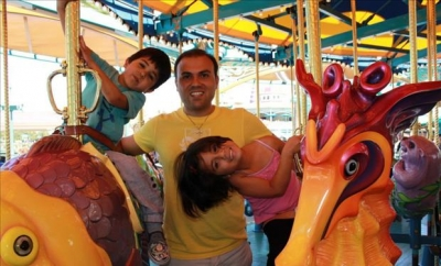 Pastor Saeed and his children