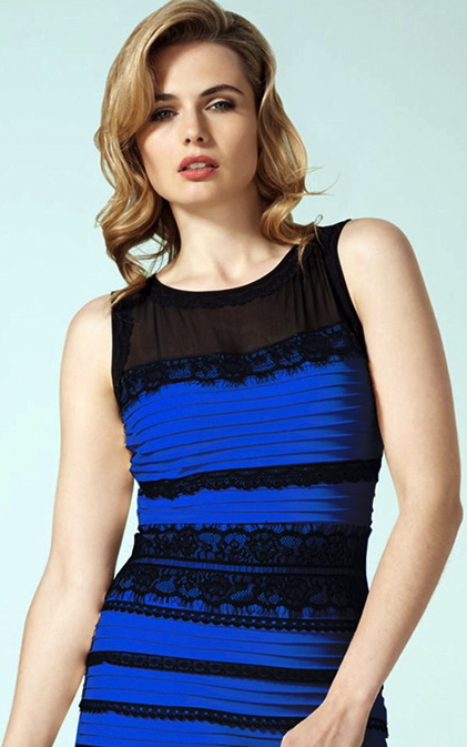 #TheDress color as advertised by Roman