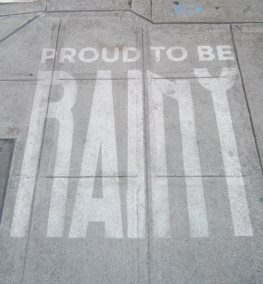 Rainworks celebrates Northwest forecasts with weather-specific sidewalk art