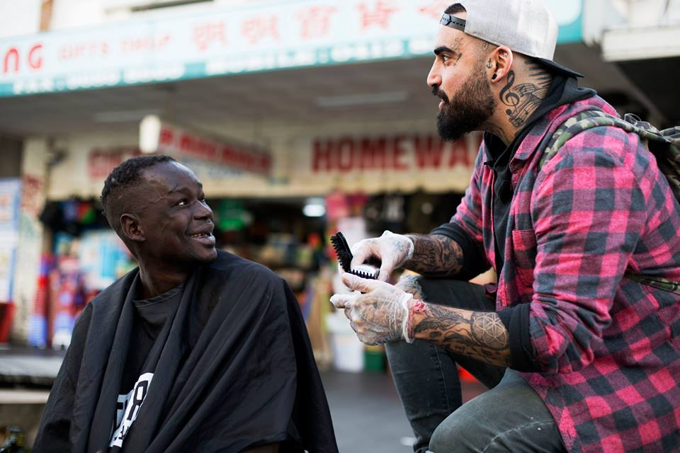 Barber gives haircuts to transform lives