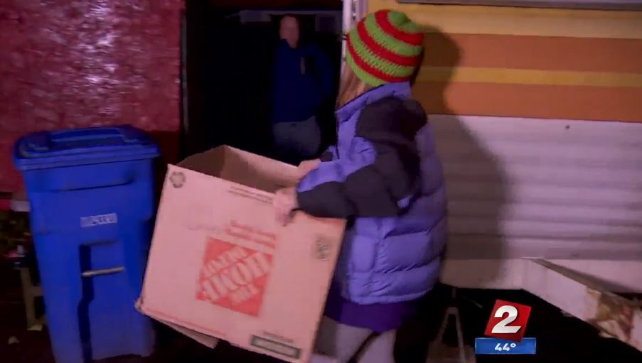 Portland family helps their neighbors in need
