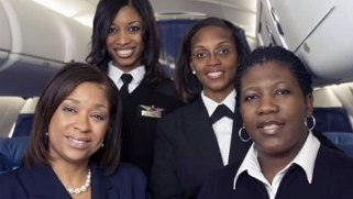 First African-American, all-female flight crew honored for Black History Month