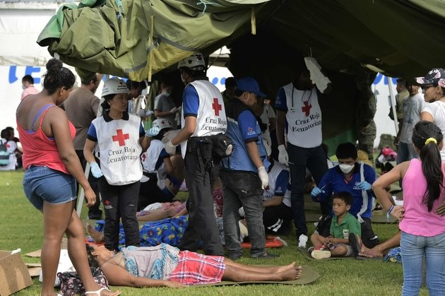 Global community helps earthquake victims in Ecuador