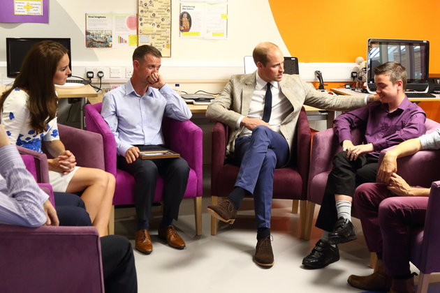 HRH Prince William consoles and counsels grieving teen and his family