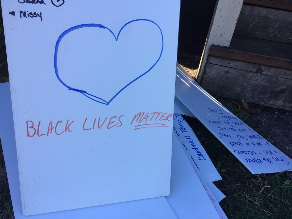 Bicyclists ride in support of a family devastated by a racially motivated attack