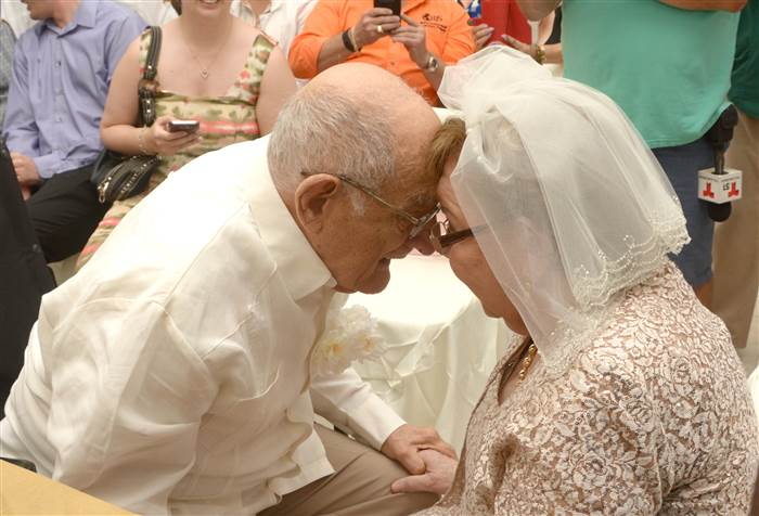 'No age limit on love': at 80, first-time bride marries 95 year-old widower