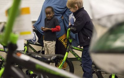 Dozens of Students Receive First Bike from Local Architect