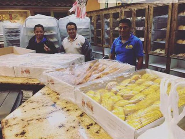 Stranded bakers make bread for fellow hurricane victims