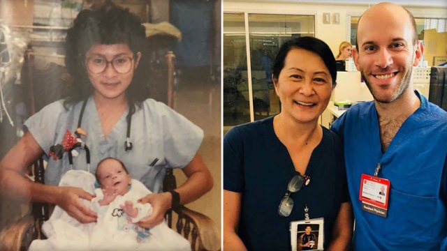 A California nurse learns she saved a doctor's life 28 years ago