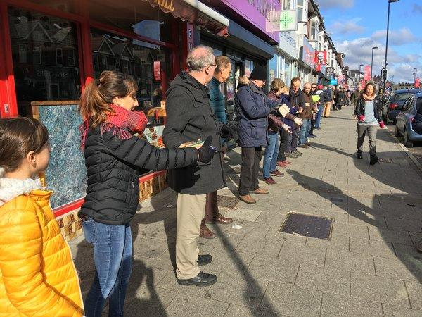 A Human Chain of Volunteers Offer to Move Thousands of Books