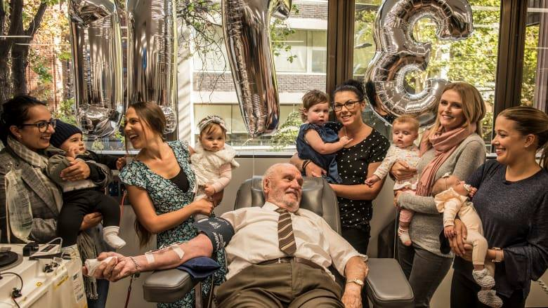 """Man with the golden arm"" saves millions of babies"