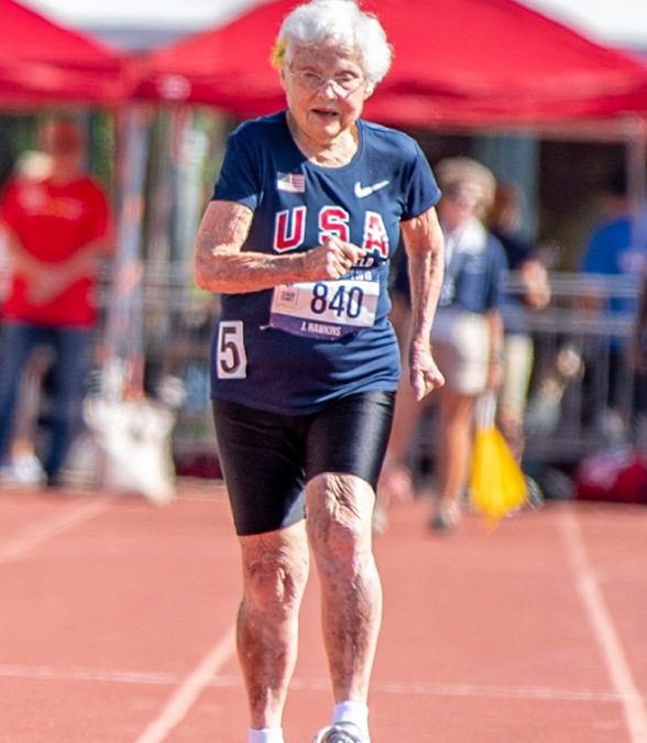 103-year-old Julia Hawkins competes in 100-meter dash, says to appreciate sunsets and music