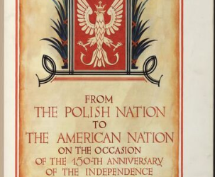 Over five million Polish signatures adorn a birthday card given to the U.S. in 1926